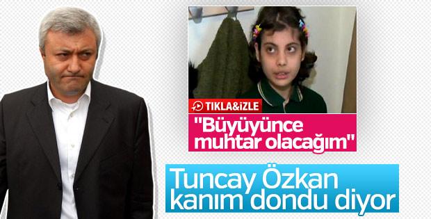 Siyasetçi olmak isteyen çocuk Tuncay Özkan'ı rahatsız etti