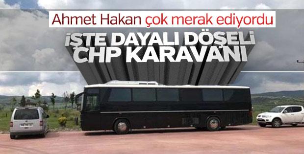 CHP yürüyüşünde Kılıçdaroğlu'nun kullandığı karavan