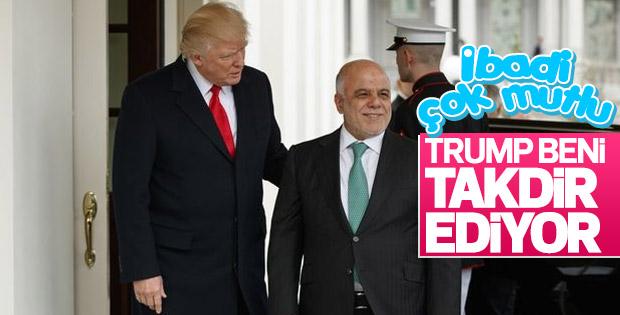 İbadi Beyaz Saray'da Trump ile görüştü
