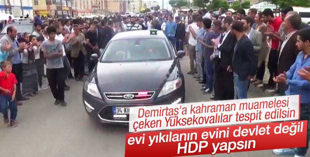 Yüksekova'da Demirtaş'a yoğun ilgi