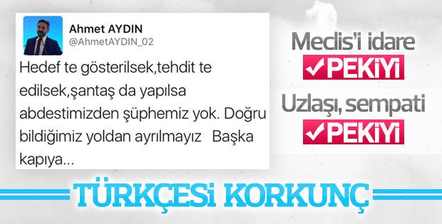 Ahmet Aydın Türkçeyi katletti