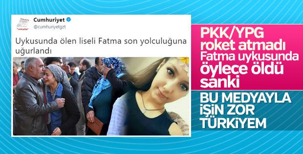 Cumhuriyet genç kızı öldüren teröristleri kolladı