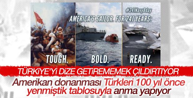 ABD Donanması'nın Twitter paylaşımı tepki çekti