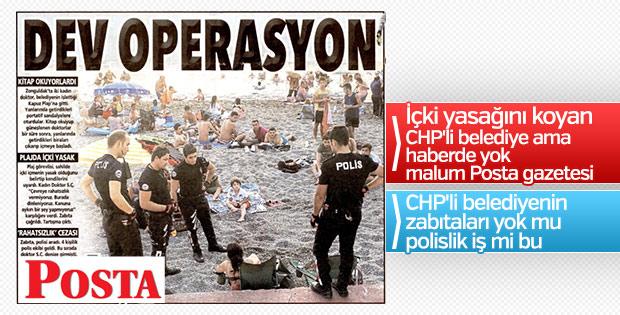 Posta'nın dev operasyon başlıklı operasyon manşeti