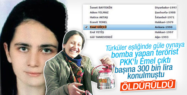 Gri listedeki PKK'lı Emel bomba yaparken görüntülenmişti