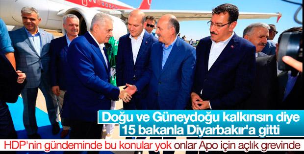 Başbakan Binali Yıldırım Diyarbakır'da