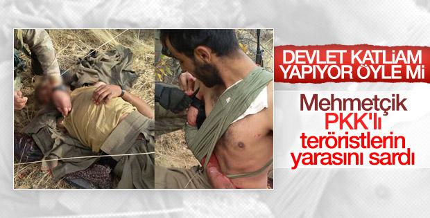 Yaralı teröriste ilk müdahaleyi askerler yaptı