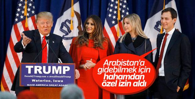 Trump'ın kızı babasıyla gezmek için hahamdan izin aldı