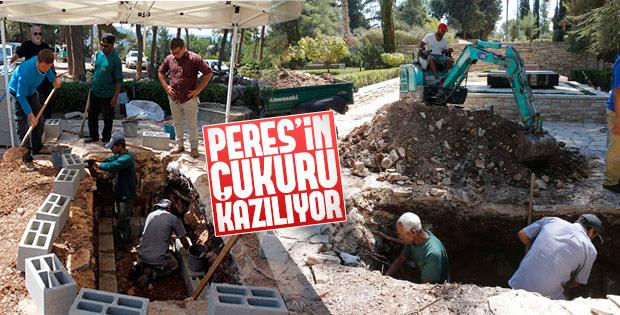 Şimon Peres'in mezarı kazıldı