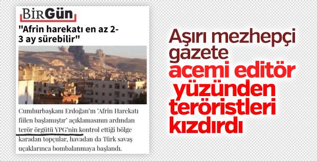Birgün gazetesi YPG'ye terörist demekten çekiniyor
