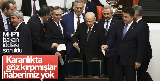 Devlet Bahçeli'den MHP'li bakan açıklaması