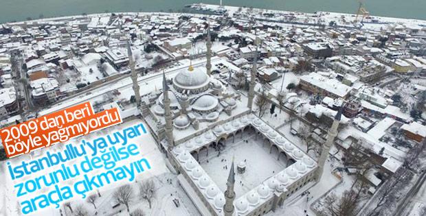 İstanbullulara kar uyarısı