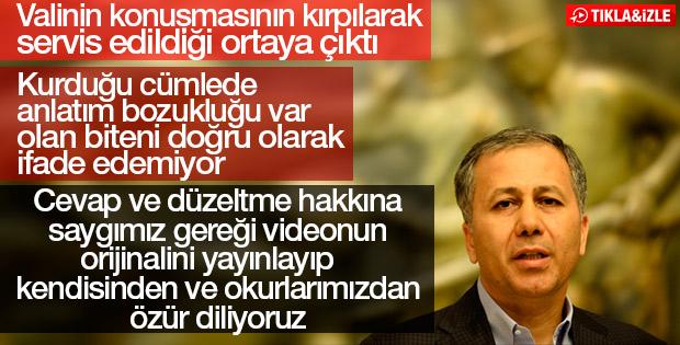 Gaziantep Valisi'nin çarpıtılan sözleri
