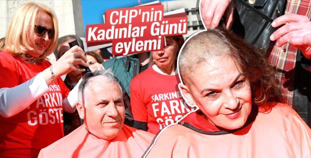 CHP'den saç kazıtma eylemi