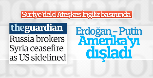 İngiliz basını Erdoğan ve Putin'in ABD'yi dışladığını yazdı