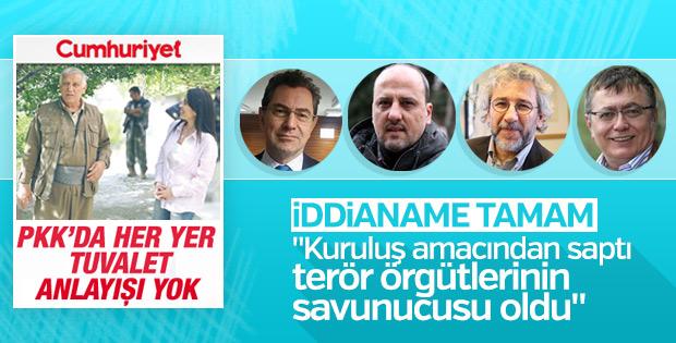 Cumhuriyet gazetesi iddianamesi tamamlandı