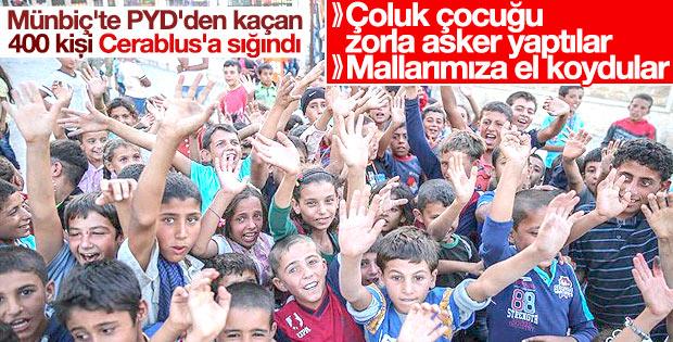 PYD zulmünden kaçanlar Cerablus'a sığınıyor