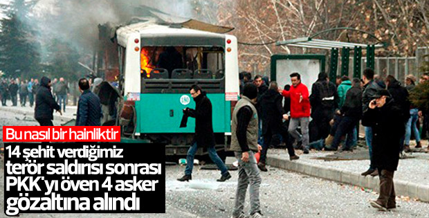 PKK propagandası yapan 4 asker gözaltına alındı