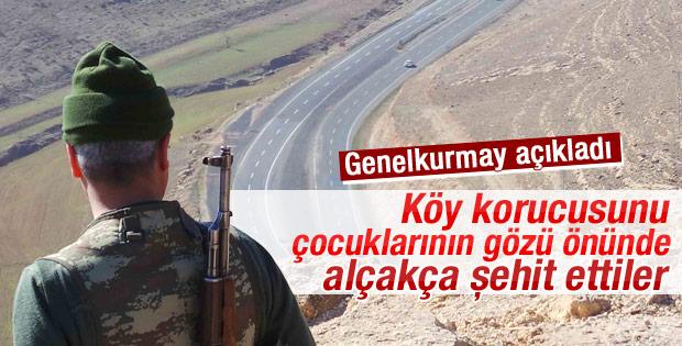 PKK'lılar bir korucuyu ailesinin yanında şehit etti