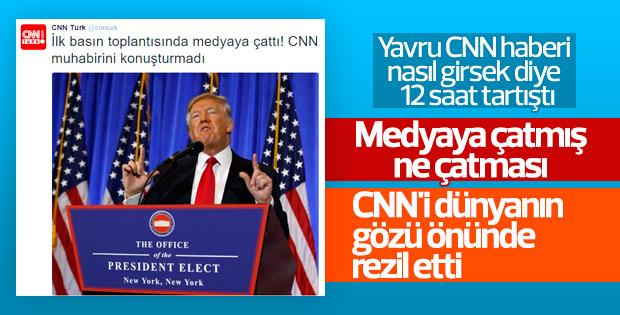 CNN Türk, Trump'ın CNN'e çaktığı haberi çarpıttı