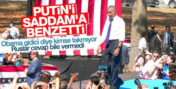 Obama, Putin'in oyunu Saddam'la kıyasladı