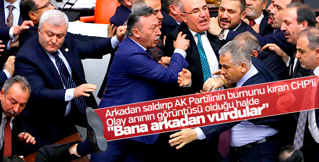 CHP'li Niyazi Nefi Kara'nın yumruk savunması