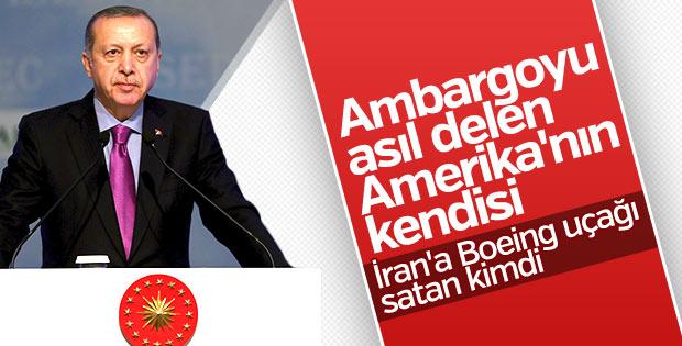Erdoğan, ABD'ye İran'ın Boeing alım-satımını hatırlattı