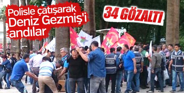 Denizli'de izinsiz eyleme polis müdahalesi: 34 gözaltı