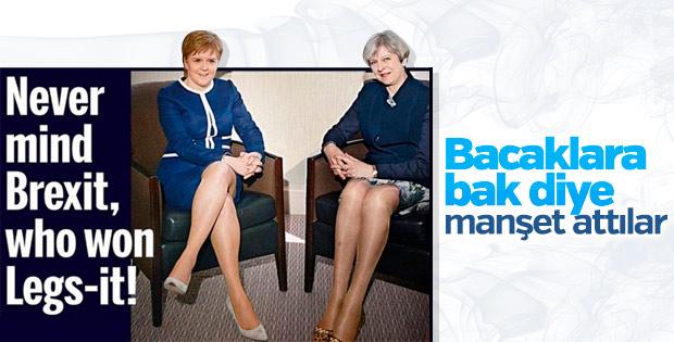 İngiliz Daily Mail'in tepki çeken bacak manşeti