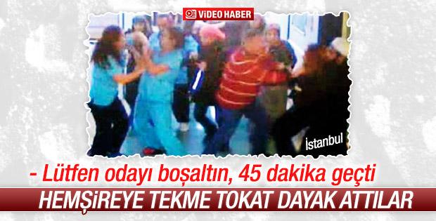 İstanbul'da hasta yakınları hemşireyi tekme tokat dövdü