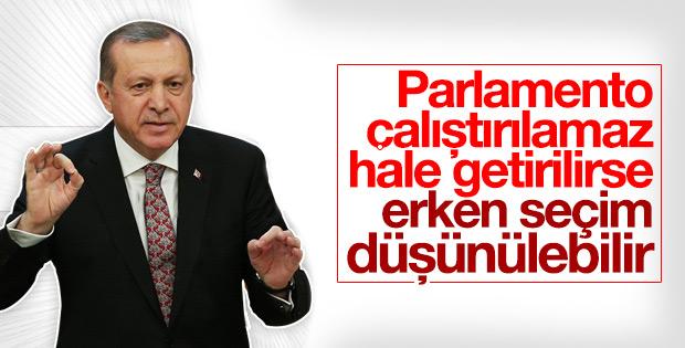 Erdoğan erken seçim için 'düşünülebilir' dedi