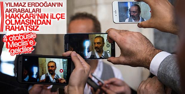 Yılmaz Erdoğan 4 otobüs dolusu Hakkarili ile Meclis'te