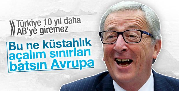 AB komisyonu başkanı: Türkiye AB üyeliğine hazır değil