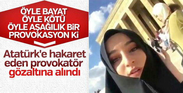 Atatürk'e hakaret eden provokatör gözaltına alındı