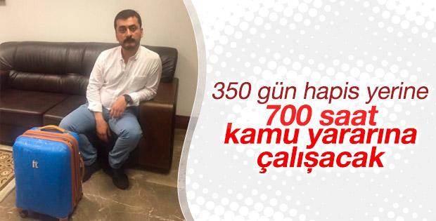 CHP'li Erdem'e kamuya yararlı işte çalıştırılma cezası