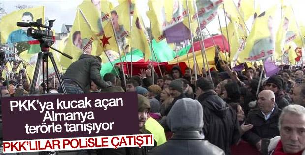 PKK yandaşları Almanya'da ortalığı birbirine kattı