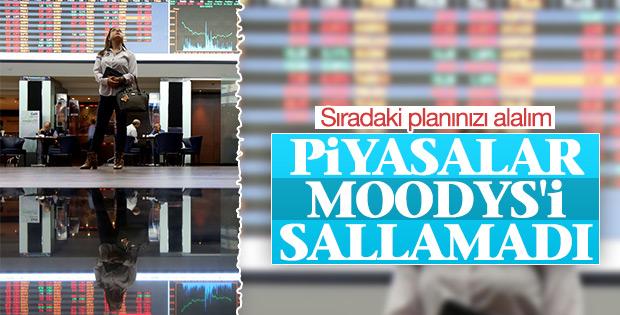Piyasalar Moody's'in kararından etkilenmedi