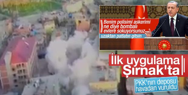 PKK'nın tuzakladığı binalar artık uzaktan yıkılıyor