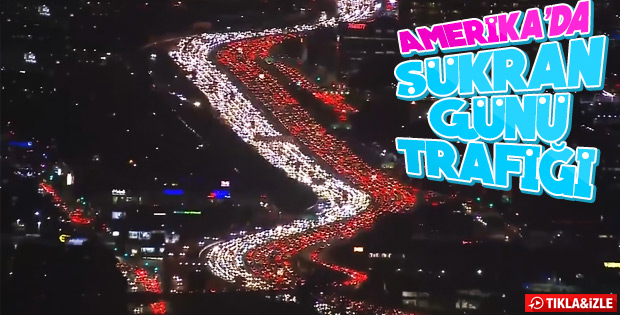 ABD'de Şükran Günü trafiği: 49 milyon ABD'li yolda