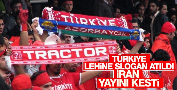 İran'da futbol taraftarlarından Halep'e destek