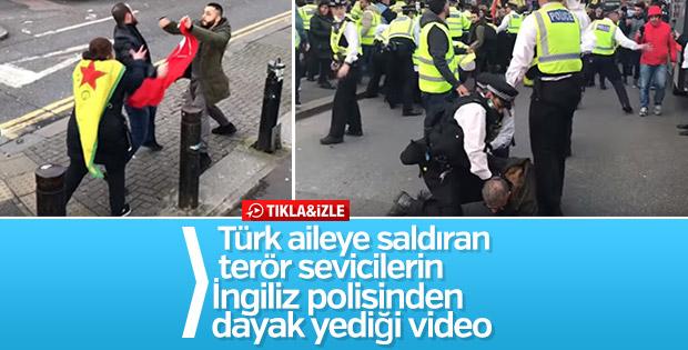 Türk vatandaşına saldıran PKK'lıya polis dayağı