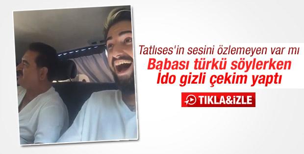 Tatlıses türkü söyledi oğlu İdo kameraya aldı