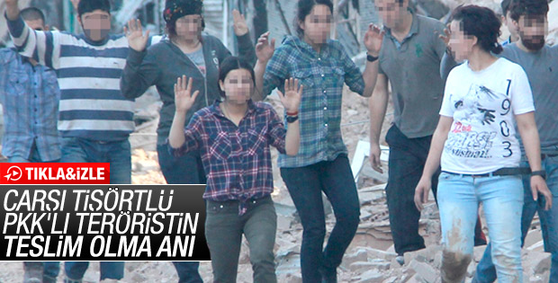 Nusaybin'deki 25 teröristin teslim olma anı