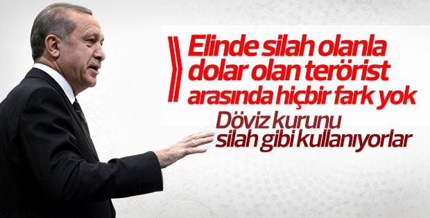 Erdoğan döviz kurunu silah gibi kullanıyorlar dedi