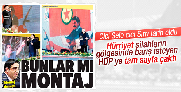 Hürriyet'ten HDP'ye tokat gibi cevap