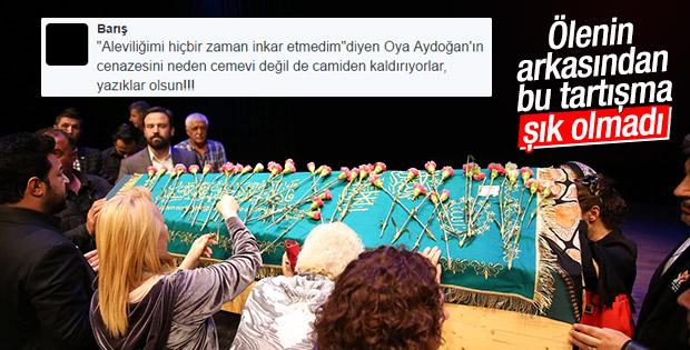 Oya Aydoğan'ın ardından 'cemevi' tartışması
