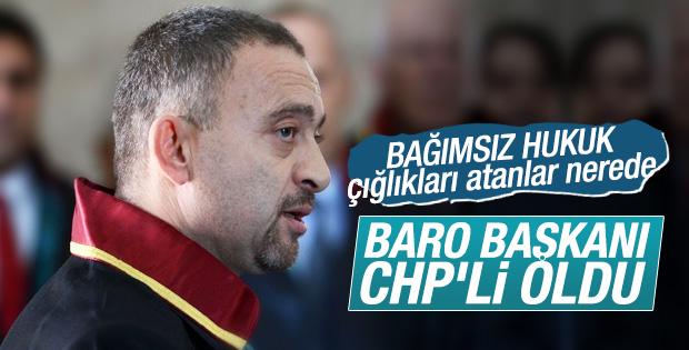 İstanbul Barosu Başkanı Ümit Kocasakal CHP üyesi oldu
