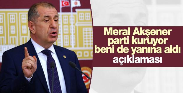 Ümit Özdağ yeni partinin genel başkanını açıkladı