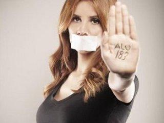 Ünlüler kadına şiddet hattı 183 için poz verdi