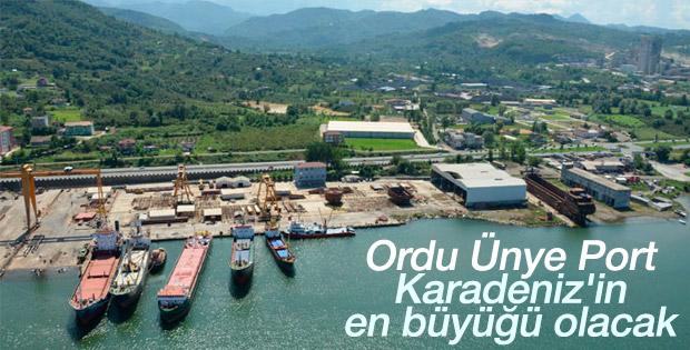 Ordu Ünye Port inşaat çalışmaları başladı
